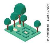 trees plants in the park scene... | Shutterstock .eps vector #1106467004