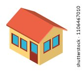 exterior house isometric icon | Shutterstock .eps vector #1106467010
