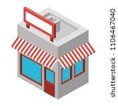 store building exterior... | Shutterstock .eps vector #1106467040