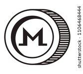 cryptocurrency monero coin... | Shutterstock .eps vector #1106468444