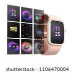 Smart Watch On White Backgroun...