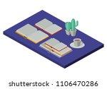 work place scene isometric icons | Shutterstock .eps vector #1106470286