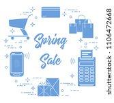 shopping cart  payment terminal ... | Shutterstock .eps vector #1106472668