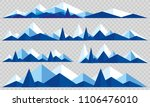 mountains low poly style set....   Shutterstock .eps vector #1106476010