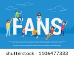 happy football world cup fans... | Shutterstock .eps vector #1106477333