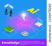 isometric light up bright idea... | Shutterstock .eps vector #1106478260