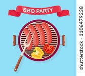 portable round barbecue with...   Shutterstock .eps vector #1106479238