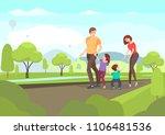 cartoon family. vector... | Shutterstock .eps vector #1106481536