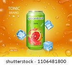 grapefruit juice can fruit drink | Shutterstock .eps vector #1106481800
