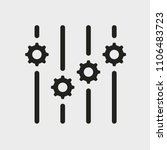 settings icon. glyph icon solid ... | Shutterstock .eps vector #1106483723