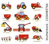 new tractors  slurry tanker ... | Shutterstock .eps vector #1106485766