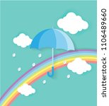 happy rainy day with monsoon... | Shutterstock .eps vector #1106489660