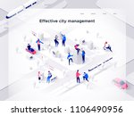 people work in a team and build ... | Shutterstock .eps vector #1106490956