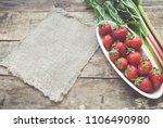 strawberry and rhubarb toned... | Shutterstock . vector #1106490980