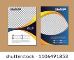 cover brochure layout annual... | Shutterstock .eps vector #1106491853