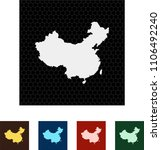map of china   Shutterstock .eps vector #1106492240