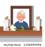 picture if grandfather already... | Shutterstock .eps vector #1106494496