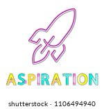 aspiration poster isolated on... | Shutterstock .eps vector #1106494940