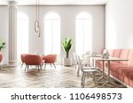 round table with pink armchairs ... | Shutterstock . vector #1106498573
