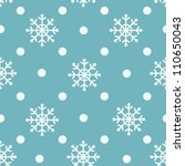 seamless snowflakes background... | Shutterstock .eps vector #110650043