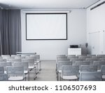 blank mock up screen seats in... | Shutterstock . vector #1106507693