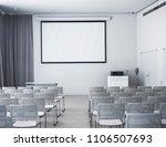 blank mock up screen seats in... | Shutterstock . vector #1106507693