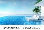 beach lounge  sun loungers on... | Shutterstock . vector #1106508173