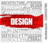 design word cloud collage ... | Shutterstock .eps vector #1106510780