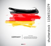 flag of germany with  brush... | Shutterstock .eps vector #1106512379