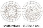 set of contour illustrations... | Shutterstock .eps vector #1106514128