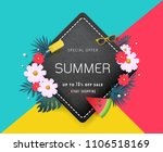 summer sale background layout... | Shutterstock .eps vector #1106518169