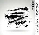 black brush stroke and texture. ... | Shutterstock .eps vector #1106520263