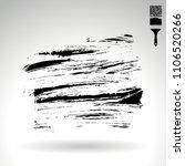 black brush stroke and texture. ... | Shutterstock .eps vector #1106520266
