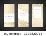 gold colored illustration with... | Shutterstock .eps vector #1106520716