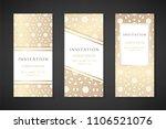 illustration with hexagonal... | Shutterstock .eps vector #1106521076