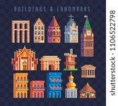 popular buildings and landmarks ...   Shutterstock .eps vector #1106522798