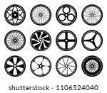bicycle wheels set with tires... | Shutterstock .eps vector #1106524040