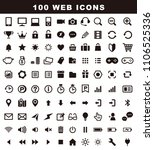 100 variety icons  web icon set | Shutterstock .eps vector #1106525336
