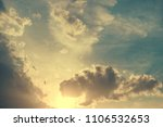 sky with clouds and sun | Shutterstock . vector #1106532653
