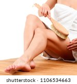 woman is massaging skin on her... | Shutterstock . vector #1106534663