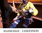miner rope access worker... | Shutterstock . vector #1106535650