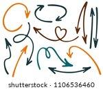 hand drawn diagram arrow icons... | Shutterstock .eps vector #1106536460