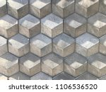 gray hexagon geometric tiles...   Shutterstock . vector #1106536520