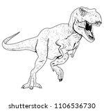 tyrannosaurus rex illustration... | Shutterstock .eps vector #1106536730