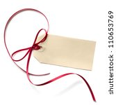 blank gift tag with a red... | Shutterstock . vector #110653769