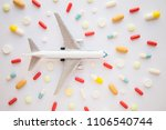 model airplane with... | Shutterstock . vector #1106540744