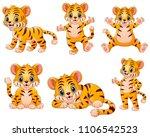 the little tiger feeling happy | Shutterstock .eps vector #1106542523