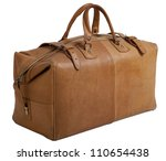 old leather gripsack isolated... | Shutterstock . vector #110654438
