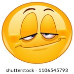 emoticon with a stoned look | Shutterstock .eps vector #1106545793
