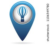air balloon icon  vector...